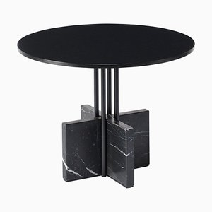 Table Basse Gravity en Marbre Marquinia Noir par Hanne Willmann pour Favius