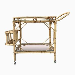 Mid-Century Bamboo Garden Tea Cart, 1950s