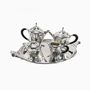 Art Deco Silver-Plated Coffee Service from R&M, 1920s, Set of 5
