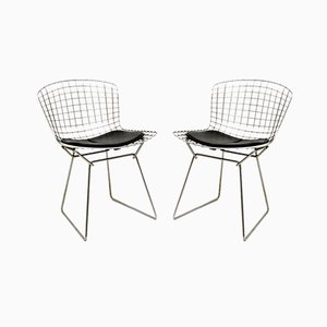 Vintage Wire Chairs by Harry Bertoia, Set of 2