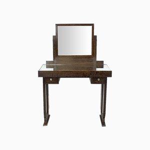 English Art Deco Oak Dressing Table