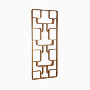 Wooden Trellis Wall Unit by Ludvik Volak for Drevopodnik Holesov, 1960s