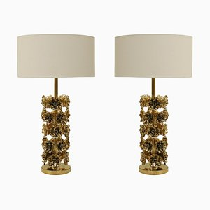 Italian Contemporary Brass Table Lamps, Set of 2