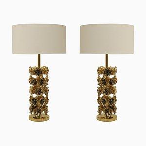 Moderne italienische Tischlampen aus Messing, 2er Set