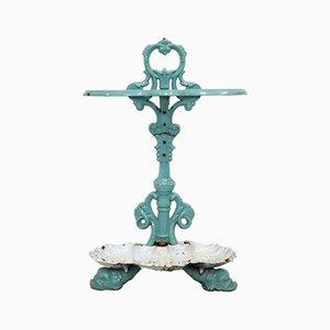 Art Nouveau Enameled Cast Iron Umbrella Stand