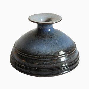 Blaue Vase von Rogier Vandeweghe für Perignem Belgium