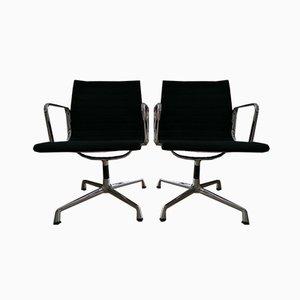Chaise EA 108 en Aluminium par Charles & Ray Eames pour Vitra, Set de 2