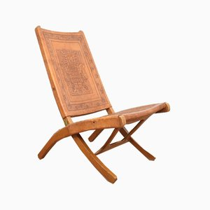 Mid-Century Teak & Leather Lounge Chair by A. Pamino, 1960s.