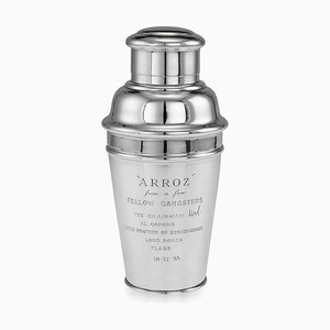 20th Century English Silver Al Capone Cocktail Shaker from Harrods, 1931