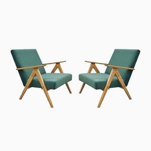 Model B 310 Var Green Velvet Armchair, 1960s