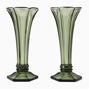 Art Deco Luxval Vase from Val Saint Lambert, 1930s, Set of 2