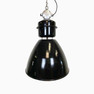 Large Industrial Black Factory Lamp from Elektrosvit, 1960s