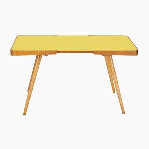 Table Basse en Verre Jaune par Jiri Jiroutek pour Novy Domo, 1960