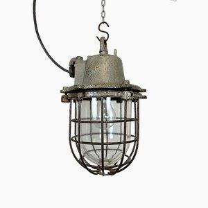 Vintage Industrial Cast Iron Pendant Light, 1960s
