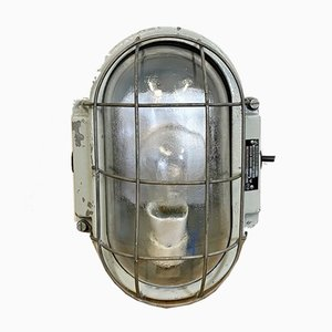 Industrielle Aluminium Wandlampe von Elektrosvit, 1970er