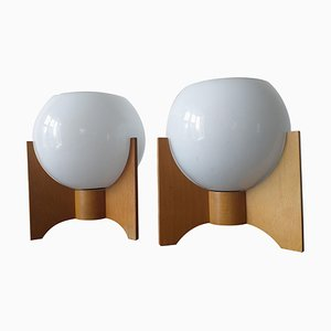 Mid-Century Rocket Table Lamps, 1970s, Set of 2