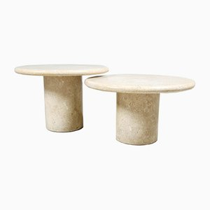 Marble Coffee Tables, 1980s, Set of 2