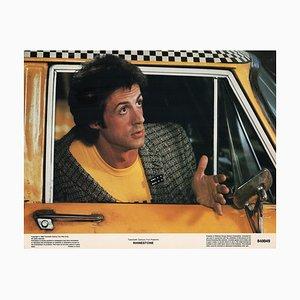 Carte de Lobby Originale Représentant Sylvester Stallone en Strass, 1984