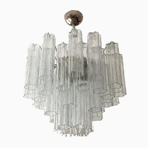 Tubular Murano Glass Chandelier of Medium Size