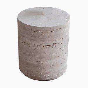 Low Travertino Light Vase