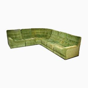 Vintage Modular Corner Sofa in Botanical Green