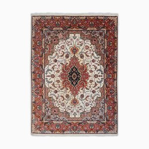 Floral Tabriz in Bright Red with Medallion and Border