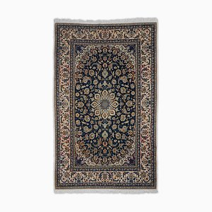 Floral Isfahan in Dark Blue with Border and Medallion
