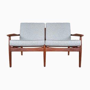 Dänisches Teak Zwei-Sitzer Sofa von Arne Vodder für Glostrup Mobler, 1960er