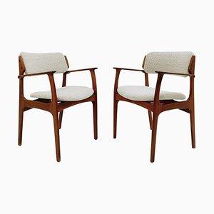 Mid-Century Modern Armchairs by Erik Buch, 1960s, Set of 2