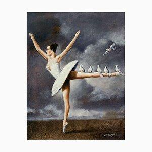 Rafal Olbinski, A Ballerina, 2021