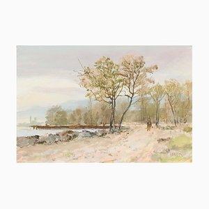 Paintings by Rudolf Müller (1892, Grenchen - 1972, Bern), Set of 6