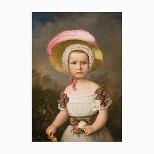 Portrait de Fille, Angleterre, 19ème Siècle