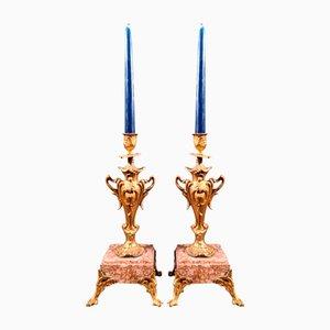 Napoleon III Candlesticks, Set of 2