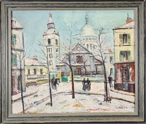 Painting by Charles Feola (1917-1994), Montmartre