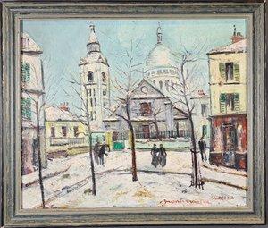 Peinture par Charles Feola (1917-1994), Montmartre