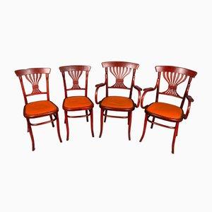 Dining Chair Set from Fischel, Vienna, 1920s