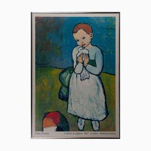 Poster of Pablo Picasso's L'enfant au pigeon