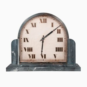 Art Deco Table Clock with Marble Base