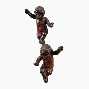 Sculptures Renaissance Putti, Italie, 17ème Siècle, Set de 2