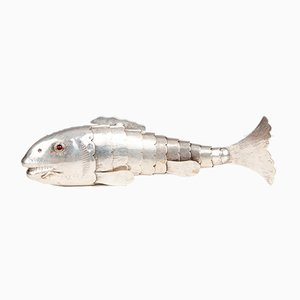 Articulated Silver Fish Spice Holder