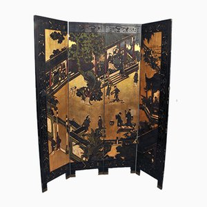 Large Louis XIV Screen with Coromandel Lacquer, Late 19th Century