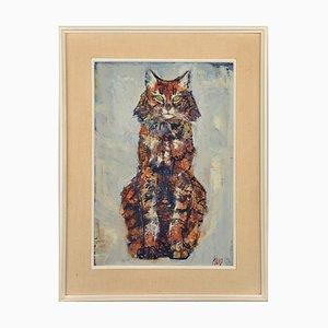 Fritz Hug, Waldkatzen, Öl auf Leinwand