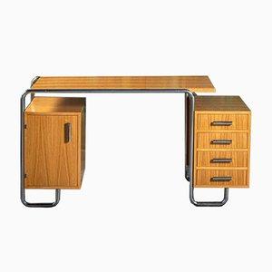 Schreibtisch mit Rohrgestell, Mücke-Melder, Fryštát, Type 06 Von Mücke Melder