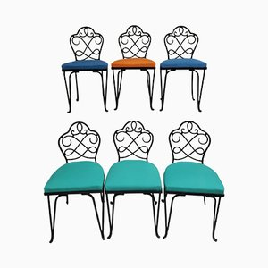 Französische Gartenstühle von René Prou, 6er Set