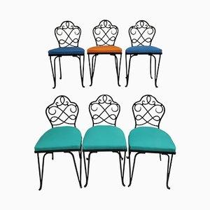 Sedie da giardino di René Prou, Francia, set di 6