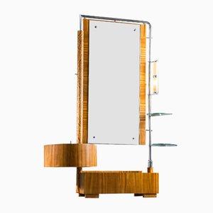 Art Deco Toilettenschrank mit Spiegel