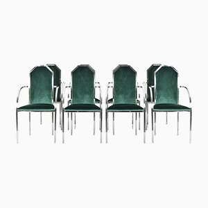 Vintage Dining Chairs from Belgo Chrom / Dewulf Selection, 1980s, Set of 8