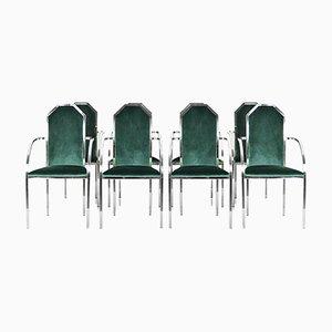 Vintage Esszimmerstühle von Belgo Chrom / Dewulf Selection, 1980er, 8er Set