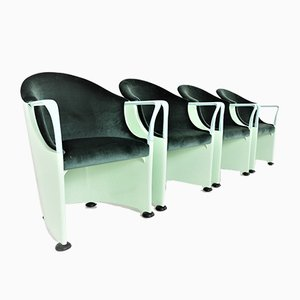 Armchairs by Luigi Origlia for Tronetto, Set of 4