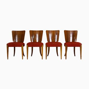 Art Deco H-214 Dining Chairs by Jindrich Halabala for UP Závody, 1950s, Set of 4